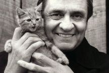Celebrity with cats