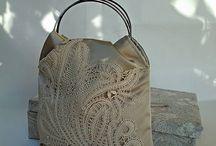 Ivory lace handbag