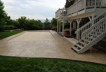 Runyon Stamped Concrete Pool Deck Surround / Pool Decks and Exterior Stamped Decorative concrete
