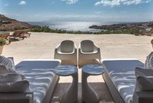 Honde - Mykonos / The ingenious minds of two extremely talented architects created this distinctive property to share with elite travelers looking for a unique experience in Mykonos. Perched just above Super Paradise Beach, Honde is a prime example of modern design applied to provide great comfort in a stylish atmosphere. For more details: http://www.mykonosvillas.com/our-villas/honde