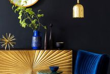 Bold, dark colours & statement interiors / A collection of designs for the brave who are ready to express themselves through dark shades, patterns & bright and vivid accessories.
