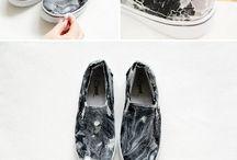pittura su tessuti e scarpe, jeans edgy look / Fai da te su tessuti e jeans, scarpe. Effetto consumato, pittura, decorazioni....