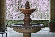 fountains / with the sound of falling water comes relaxation