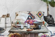 Colourful boho chic Moroccan Style Interiors