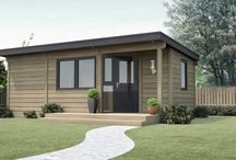 Granny annex / Our range of traditional and contemporary 'granny' annexes, all made from solid log - stylish one-level living, low maintenance, great acoustics (no echo), warm in the winter & cool in the summer and affordable. Can be positioned next to an existing home or in a garden.