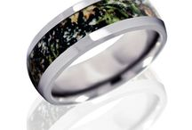 Camo Rings / Buy rings with camouflage patterns. Each camo ring is made to order and no two rings are alike. / by Joy Jewelers
