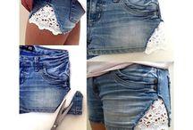 DIY shorts makeover