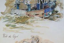 Aquarelles / Peinture Aquarelle les meilleurs du net. #aquarelle #croquis #couleur #peinture #art #dessin #hitart #watercolor #painting