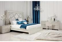 Nite Nite / Classy bedrooms, silver, gold, cream, beige inspiration