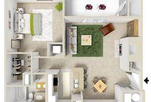 Floor plans. One bedroom