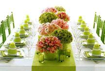 Flores y verdes
