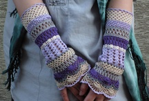 Crochet hand warmers and boot cuffs