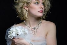 Gatsby Bridal Jewelry Collection / Couture jewelry designed and created by hand that will transcend you to another era...  Created in sterling silver, white fresh water pearls, and silver 'Swarovski 'Austrian crystal.... Jewelry for your special day can be custom made just for you  www.LoriFrantz-Koenig.com / by Lori Frantz-Koenig