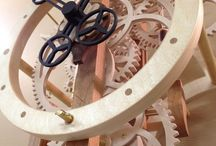 Wooden clocks / Functioning clocks made almost entirely out of wood