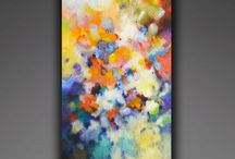 """Higher Vibration, original abstract textured painting / """"Higher Vibration"""" original abstract painting by 36 inches high, 18 inches wide, 1.5 inches deep. Mixed media painting with lots of texture on a heavy duty canvas."""