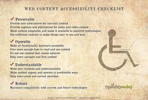 Web accessability / I try to collect here useful things about web accessibility. I want to be good at it. I hope it will be useful anybody who want to create a useful web page for everyone.