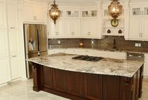 Peter's Kitchen: A white masterpiece! / This kitchen truly is art: White, ornate, ceiling height custom made cabinets. Complete with a spectacular granite counter top, this truly is a breath taking kitchen. Your Style, Our Craftsmanship, Shared Pride!