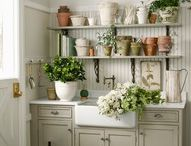 Potting Sheds, Potting Benches and Greenhouses  / by Lynda @ Gates of Crystal