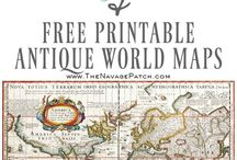 World map printables and ideas