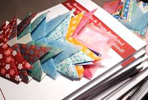 "Origami Bookmarks for Resume Psychology Book Give-Away / These are origami bookmarks made for the ""resume"" book give-away. The bookmarks are representational shapes for a deer, fox, or fish. It depends on the angle of the ears... and your perspective. I made about 60…  The book is available on Amazon: http://www.Amazon.Com/-/dp/0692525602/ ; Resume Psychology Resume Hacks & Traps Revealed- Beat the Machine. Be Seen. Get Hired!"