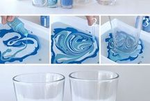 Copo decorado com esmalte