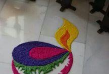 Diwali Rangoli,Toran Candles