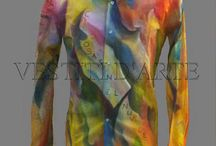 Hand painted men clothing