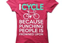 Cycling T Shirts / T shirts with cycling and bicycle themes and quotes.