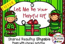 Kindergarten & 1st Grade Christmas Songs, Games, and Printables / Songs, Learning Games and Holiday Themed Printables just perfect for Kindergarten and 1st grade classrooms!