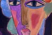 Gezichten schilderijen