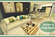 Sims 4 - Kitchen & Living Room