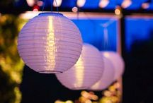 Solar Powered Paper Lanterns and Lights