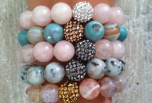 Lindsay Rae Designs / Custom, stackable beaded bracelets made with gemstones, wood, silver and gold plated beads, pave beads, and czech glass beads.    To purchase visit my Etsy shop or visit Lindsay Rae Designs on Facebook and email designsbylindsayrae@gmail.com