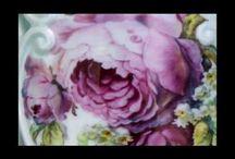 Porcelain painting techniques & artists