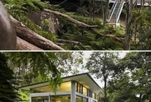 Glass storey houses