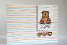 Scrapbooking - Cartes bébés