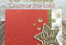 Christmas star A1176 ctmh stamp
