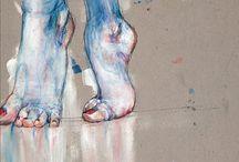 Pastellkreide ballet