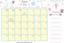 Calendario 2015 / Calendario 2015 para anotar todas las grandes cosas que te esperan este año