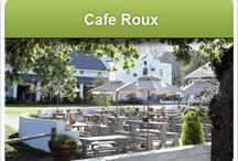 Cafe Roux / Café Roux is a family run business, open daily for breakfast, lunch and cakes. Situated under the oak trees, en route to Chapman's Peak Drive in beautiful Noordhoek, Café Roux is largely outdoor eating. It borders on a children's playground and grass area, making it a family-friendly destination.