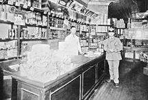 Italian shops, NYC 1900s