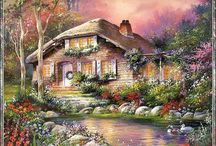 Cross stitch ~ Landscapes and houses