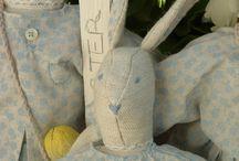 Pasqua / creazioni in tessuto, cartapesta, bacche.