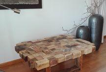 Reclaimed hout salontafel