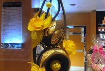 Sculptures en chocolat