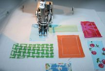 Ticker tape quilting