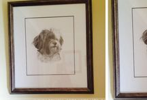 Pet Portraits in Pencil Happy Clients / I have received some wonderful photos from my happy clients and you can see just a few of them here on my testimonials board!