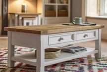 Milborne | Country style furniture in recalimed pine wood / With an honest country character our Milborne collection is craftsman-made in Vietnam from solid reclaimed pine wood with an ivory paint and warm natural waxed finish.