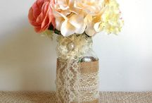 Rustic Coral Gold Wedding