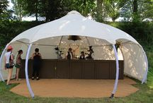 Festival catering tents